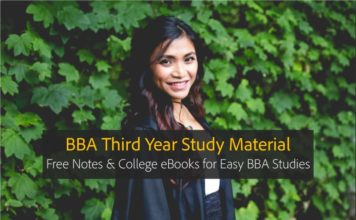 BBA Third year Notes, eBooks PDF Download
