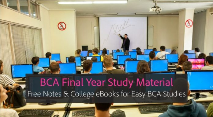 BCA Final year Notes, eBooks PDF Downloads