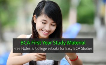 BCA First year Notes, eBooks PDF Download