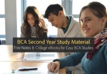 BCA Second year Notes, eBooks PDF Download