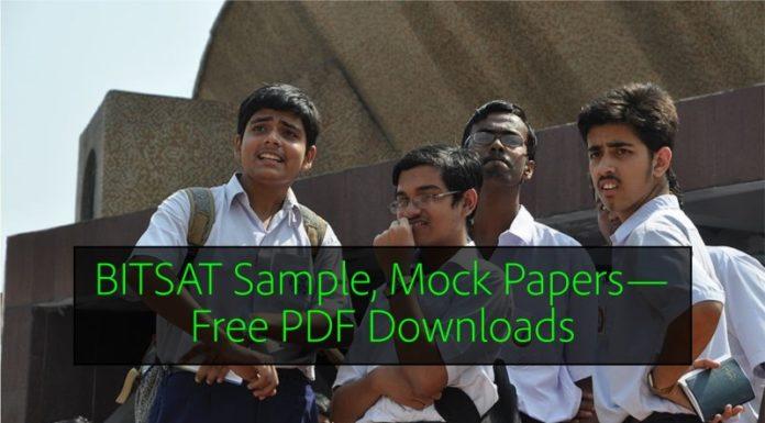 BITSAT Sample, Mock Papers