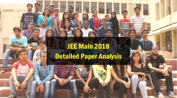JEE Main 2018 Detailed Analysis - Topic-wise Marks Distribution, Weightage and Difficulty Level