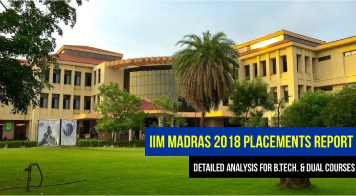 IIT Madras Engineering (B.Tech & Dual) 2018 placement report