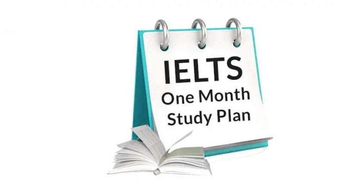 IELTS one month study plan